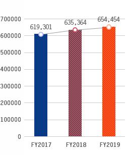 Total Assets, FY2017:644,782, FY2018:690,084, FY2019:702,916